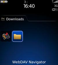WebDAV Navigator for Blackberry